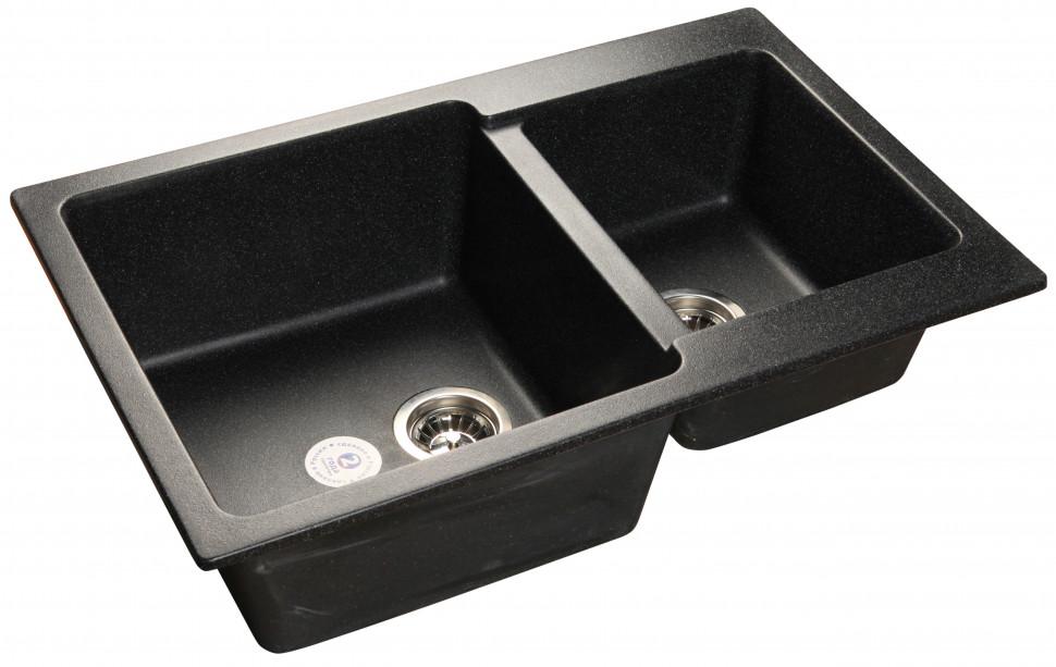 Кухонная мойка черный GranFest Practic GF-P780K кухонная мойка granfest practic gf p780k терракот