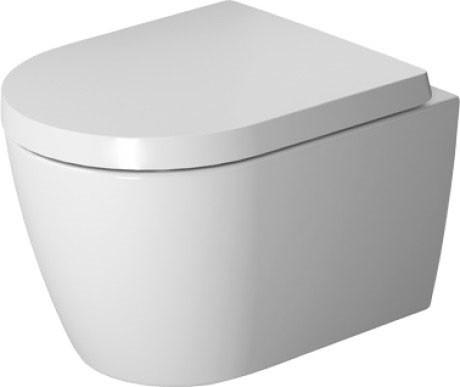 цена на Подвесной безободковый унитаз с сиденьем микролифт Duravit ME by Starck 45300900A1