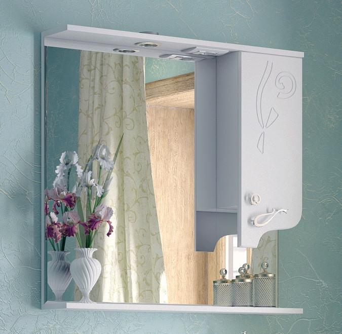 Зеркальный шкаф 85х81,6 см белый глянец Corozo Венеция SD-00000283 зеркальный шкаф corozo орфей 50 белый sd 00000299