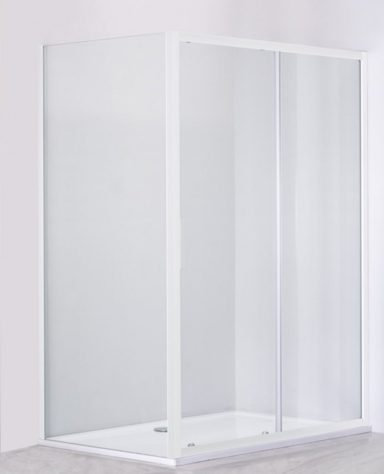 Душевой уголок 130х80 см Cezares RELAX-AHF-1-130/80-P-Bi текстурное стекло
