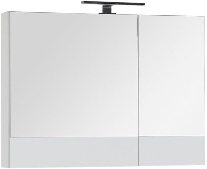 Зеркальный шкаф 90х67 см белый Aquanet Верона 00172339