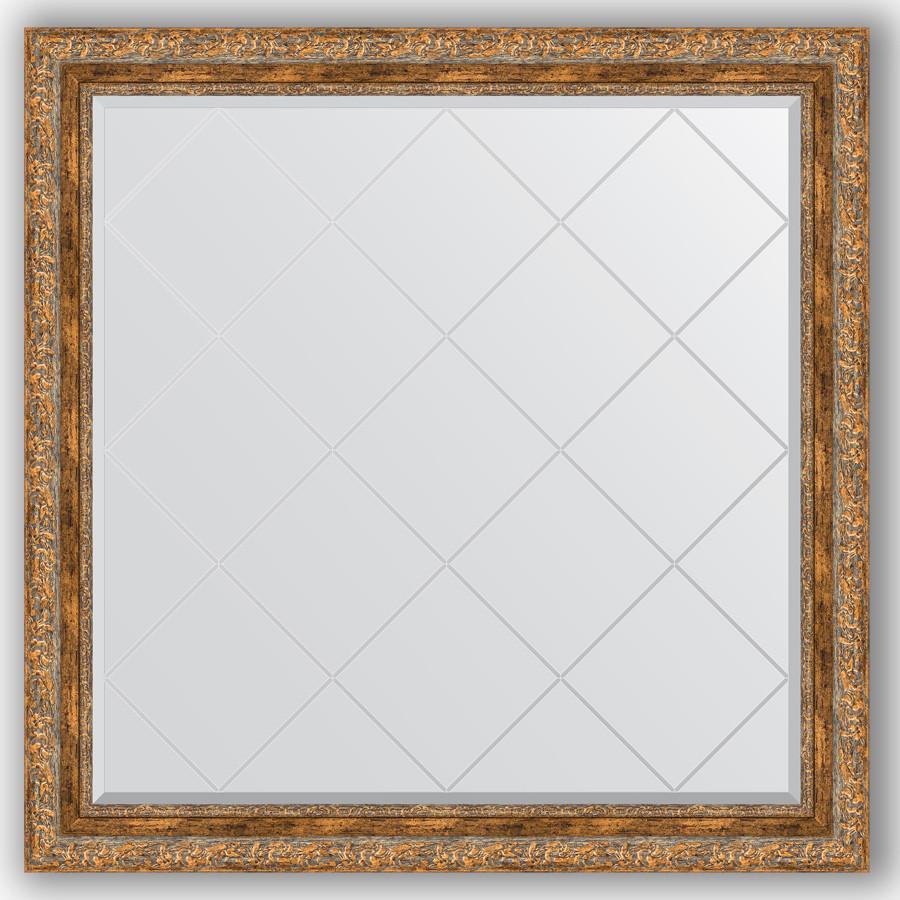 Фото - Зеркало 105х105 см виньетка античная бронза Evoform Exclusive-G BY 4445 зеркало 75х130 см виньетка античная бронза evoform exclusive g by 4230