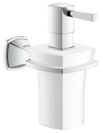 Grohe Grandera 40627000 Держатель с керамическим дозатором жидкого мыла полотенцедержатель с дозатором жидкого мыла хром art