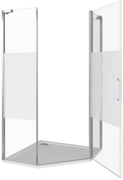 Душевой уголок 90х90 см Good Door Pandora PNT-90-T-CH прозрачное с рисунком душевой уголок good door pandora cr 90 t ch без поддона