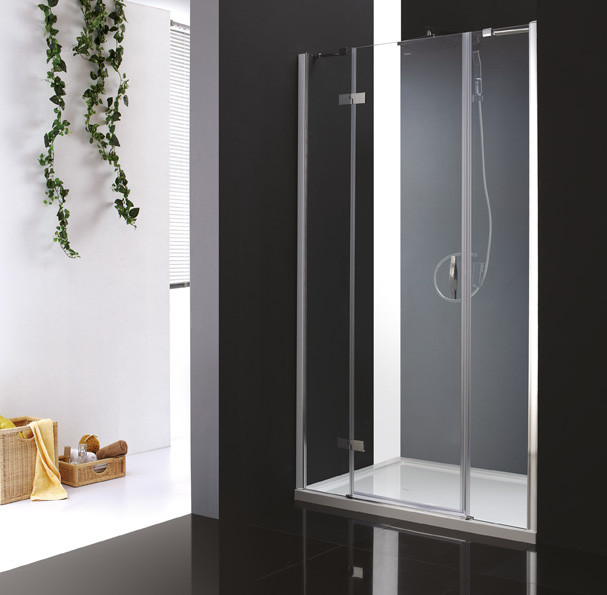 Душевая дверь распашная Cezares Bergamo 120 см текстурное стекло BERGAMO-W-B-13-30+60/30-P-Cr-L фото