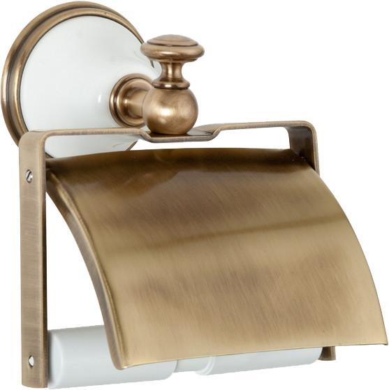 Держатель туалетной бумаги белый/бронза Tiffany World Harmony TWHA219bi/br держатель для туалетной бумаги tw harmony twha219 бронза