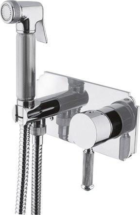 Смеситель с гигиеническим душем однорычажный хром Cezares Olimp OLIMP-DIF-01-L смеситель с гигиеническим душем однорычажный бронза cezares olimp olimp dif 02 l