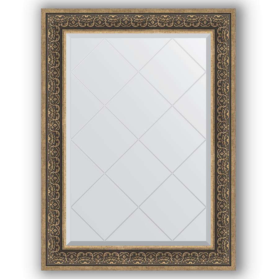 Зеркало 79х106 см вензель серебряный Evoform Exclusive-G BY 4207