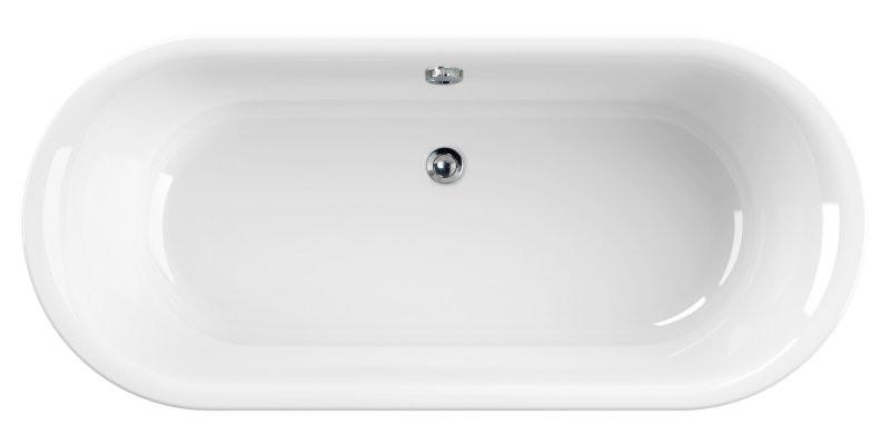 Акриловая ванна 180х80 см Cezares Metauro METAURO-Central-180-80-40