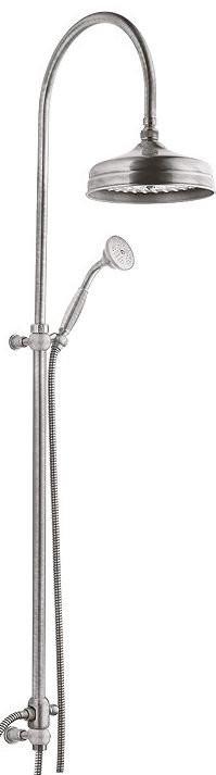 Душевая колонна с ручным и верхним душем для подключения к смесителю через гибкий шланг хром, ручка металл Cezares Vintage VINTAGE-CAE-01-M