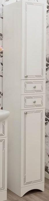 цена Пенал напольный белый серебряная патина R Sanflor Элен C0000001859 онлайн в 2017 году