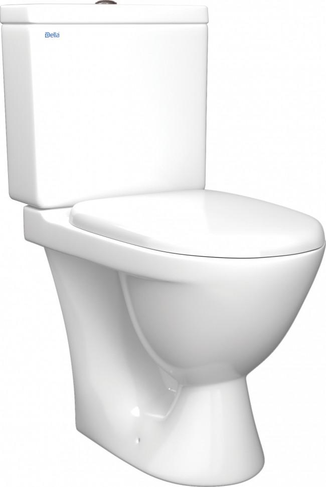 Унитаз-компакт с сиденьем Della Ancora DE121090035 унитаз компакт напольный sanita виктория комфорт