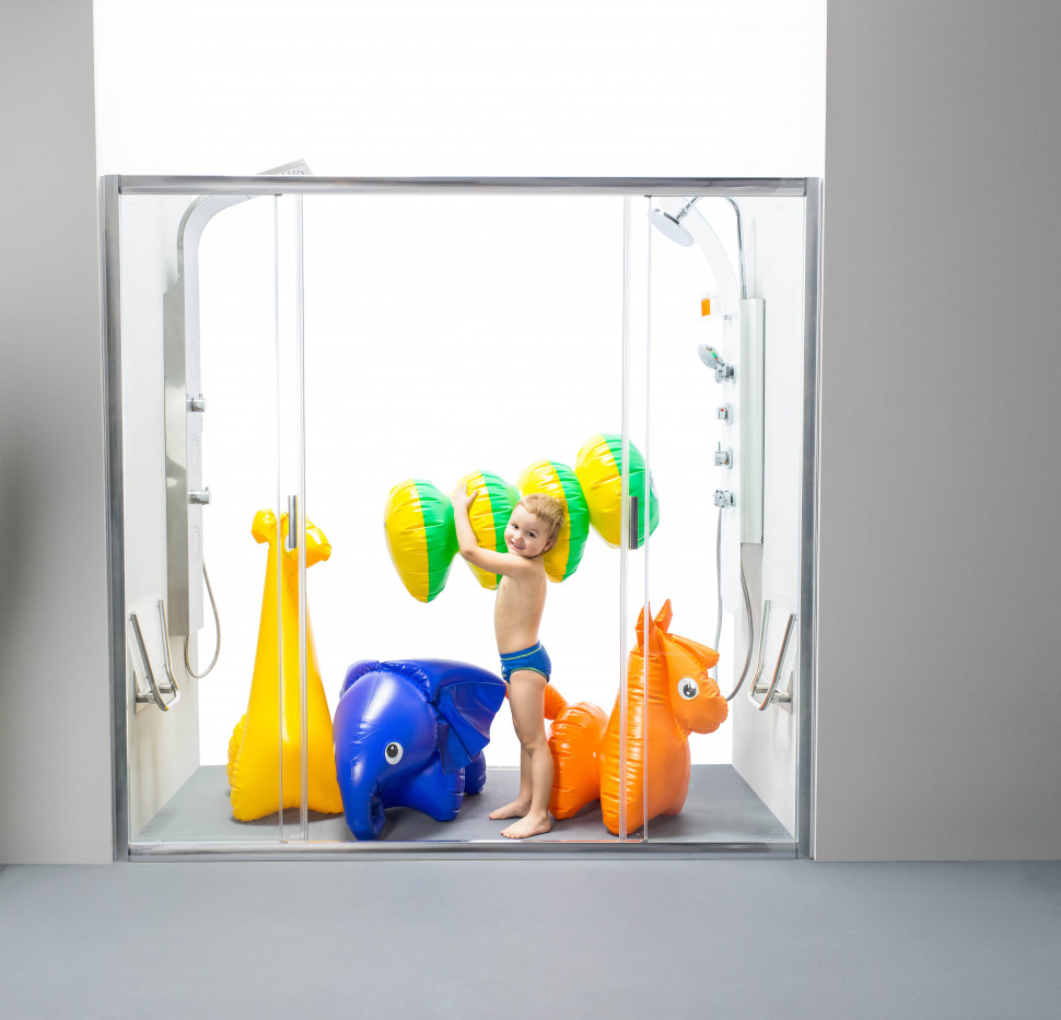 Душевые раздвижные двери Ravak Blix BLDP4 190 сатин Transparent 0YVL0U00Z1