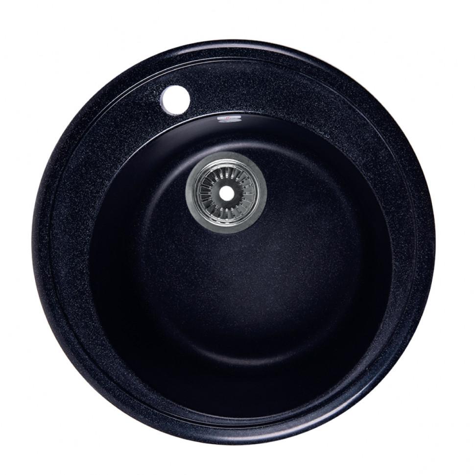 Кухонная мойка черный Rossinka RS51R-Black кухонная мойка бежевый rossinka rs51r beige granite