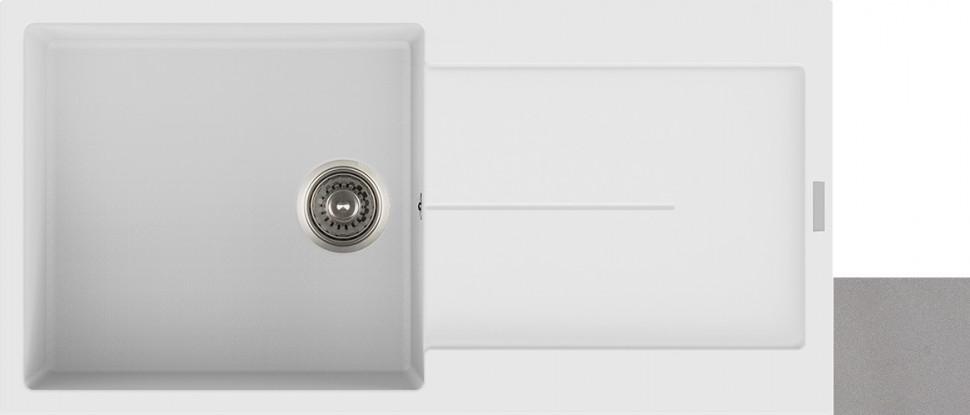 Кухонная мойка крома Longran Enigma ENG1000.500 - 49 фото