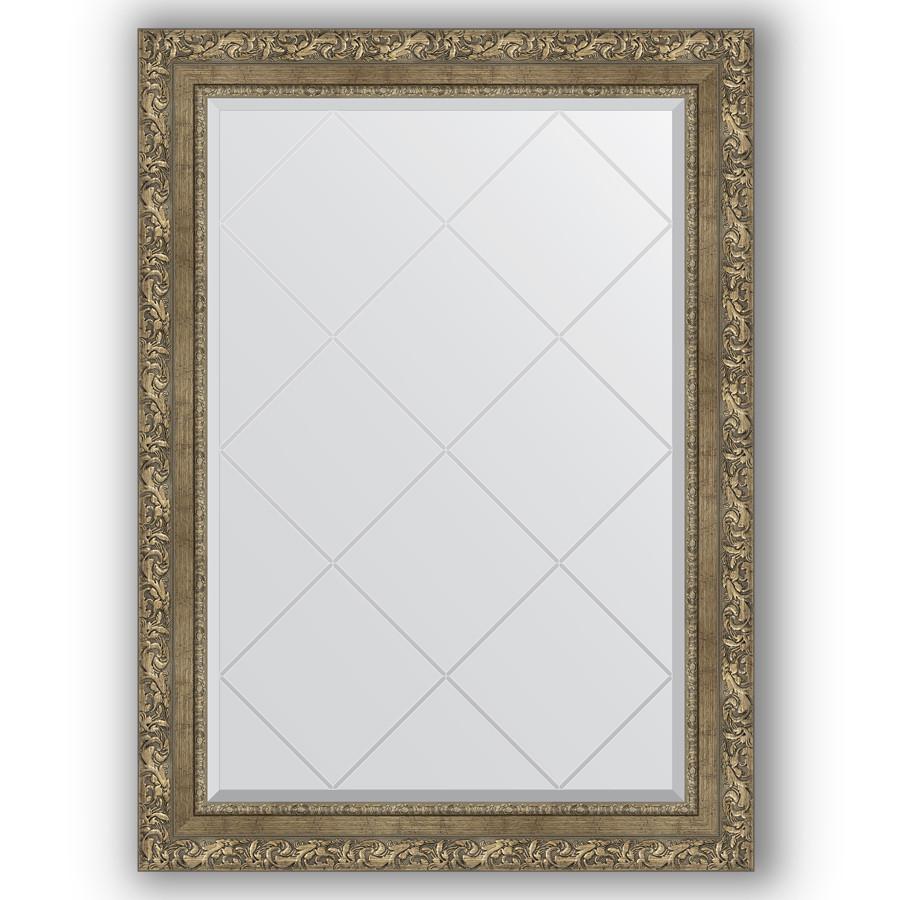 Зеркало 75х102 см виньетка античная латунь Evoform Exclusive-G BY 4188