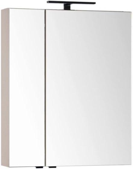 Зеркальный шкаф 69,8х85 см бежевый Aquanet Эвора 00184016