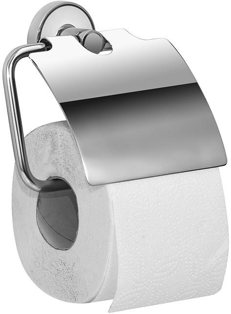 Держатель туалетной бумаги с крышкой хром/белый IDDIS Calipso CALSBC0I43 держатель для туалетной бумаги iddis calipso calsbc0i43
