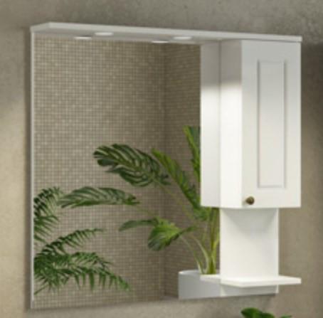 Зеркальный шкаф 85х82 см слоновая кость Comforty Севилья 00003132625 цена