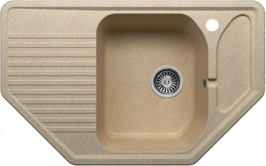 Кухонная мойка Polygran песочный F-10 №302 кухонная мойка polygran хлопок f 10 331