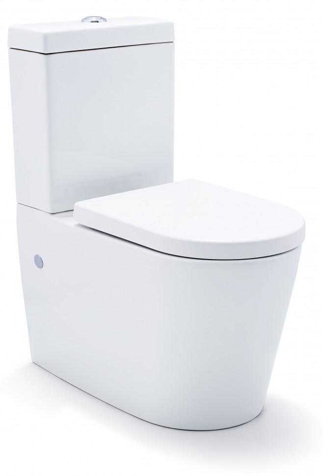 Унитаз-компакт с сиденьем микролифт SSWW CT2046 унитаз компакт напольный sanita виктория комфорт