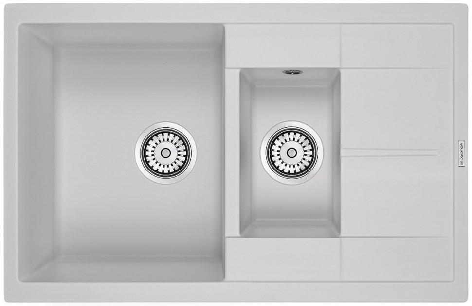 Кухонная мойка Paulmark Feste белый PM237850-WH