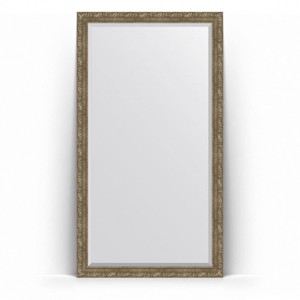 Зеркало напольное 110х200 см виньетка античная латунь Evoform Exclusive Floor BY 6155 зеркало evoform exclusive g floor 200х80 виньетка античная латунь