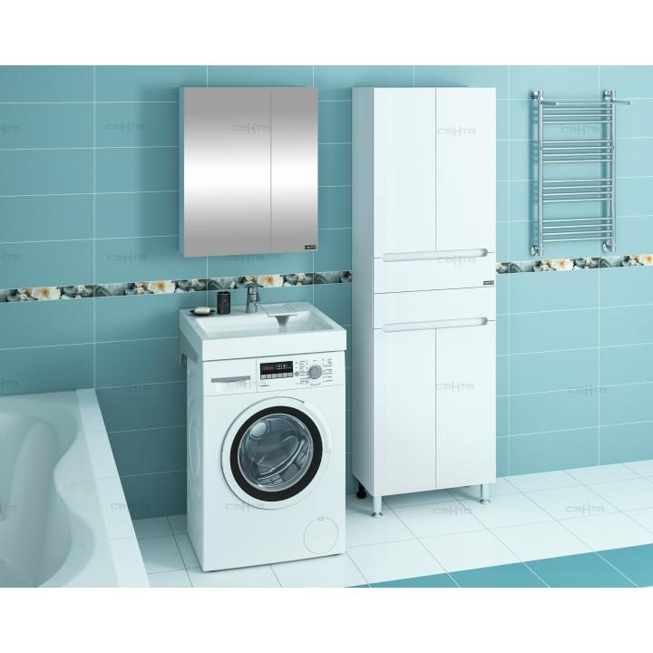 Раковина над стиральной машиной 60х50 см с кронштейнами Санта Лидер 900102