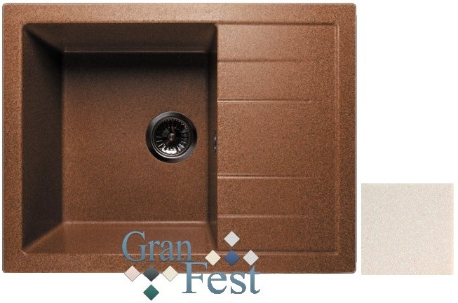 Кухонная мойка белый GranFest Quadro GF-Q650L цена