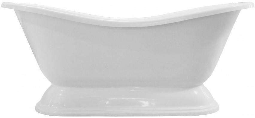 Ванна из литого мрамора 179х74 см на подиуме Эстет Бостон FP00001046