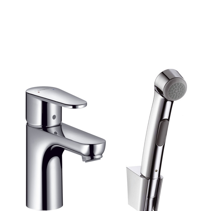 Смеситель для раковины с гигиеническим душем без донного клапана Hansgrohe Talis E2 31165000 фото