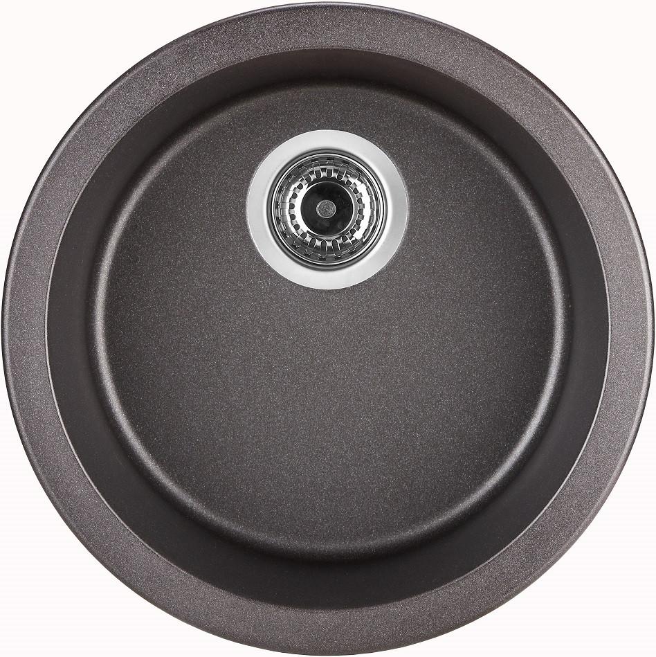 Кухонная мойка оникс Longran Ultra ULS460 - 10 мойка longran ultra uls615 500 15 10 оникс