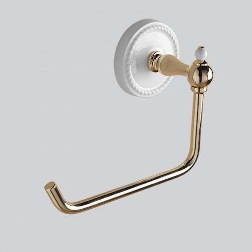 Держатель туалетной бумаги светлое золото/белый Devon&Devon Dorothy DOR411OT ёршик светлое золото белый devon