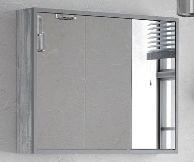 Зеркальный шкаф 90х70 см арт/серый Corozo Айрон SD-00000281 зеркальный шкаф corozo орфей 50 белый sd 00000299