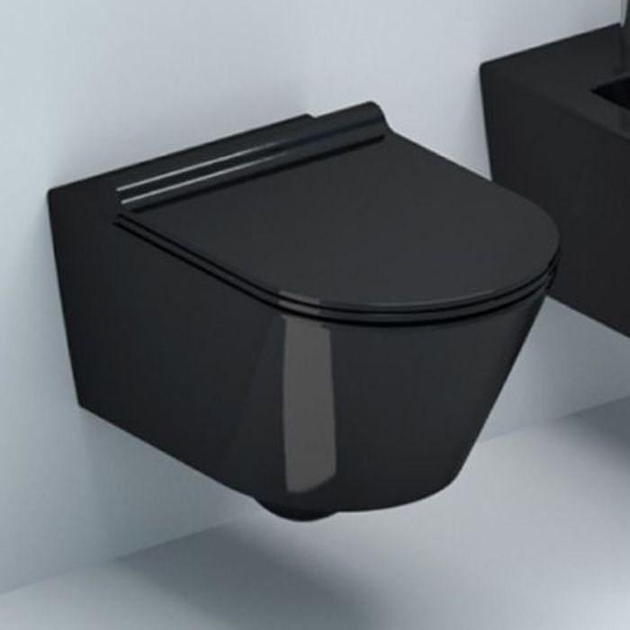 Подвесной безободковый унитаз с сиденьем микролифт Mira MR-B3649B подвесной безободковый унитаз с сиденьем микролифт mira mr b5735