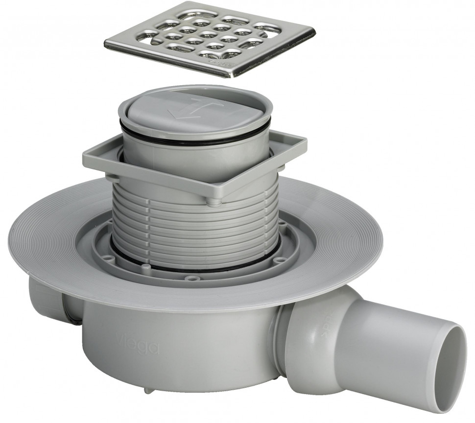 Душевой трап с сухим затвором модель 4936.2 Viega Advantix 583217
