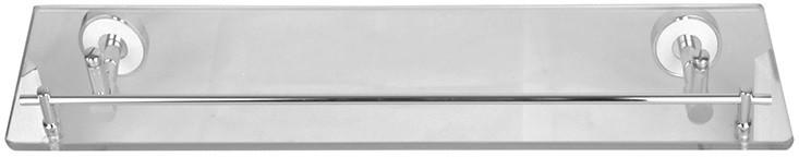 Полка стеклянная 52 см хром/белый IDDIS Calipso CALMBG0I44 полка стеклянная iddis renior l049