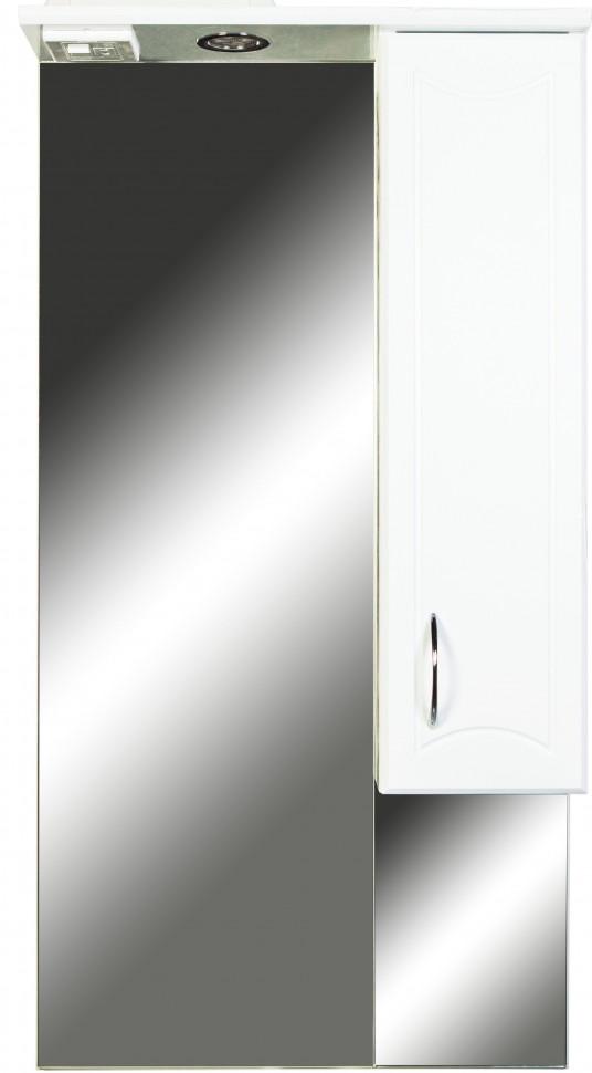 Зеркальный шкаф 55х108 см белый глянец Orange Стиль St-55ZS зеркальный шкаф orange classic 85 белый