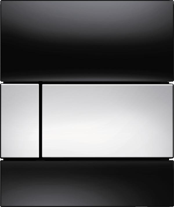 Смывная клавиша для писсуара TECE TECEsquare черный/глянцевый хром 9242807 фото