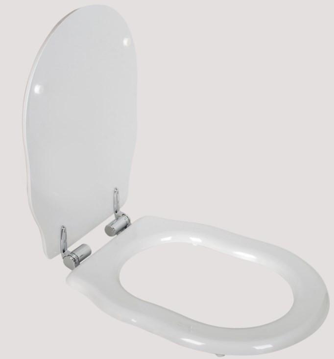Сиденье для подвесного унитаза с микролифтом белый/хром Tiffany World Bristol TWBR61bi/cr цена в Москве и Питере