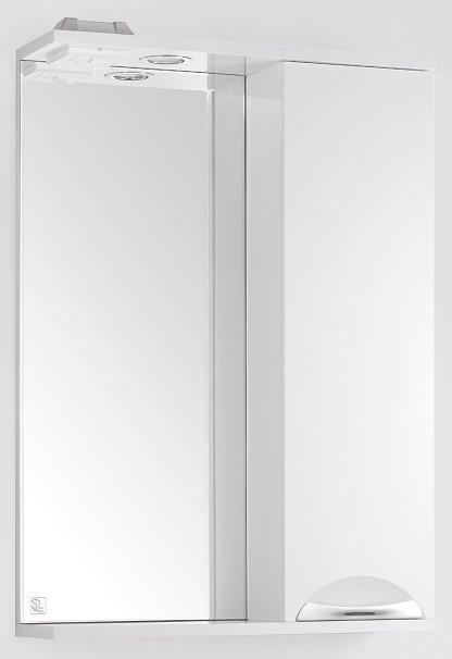купить Зеркальный шкаф 55х83 см белый глянец Style Line Жасмин LC-00000039 по цене 4569 рублей