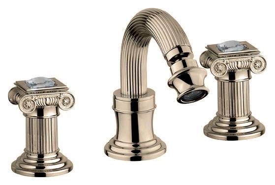 Смеситель для биде на три отверстия бронза, ручки swarovski Cezares Olimp OLIMP-BBS2-02-Sw смеситель для ванны бронза cezares olimp olimp vm 02 l