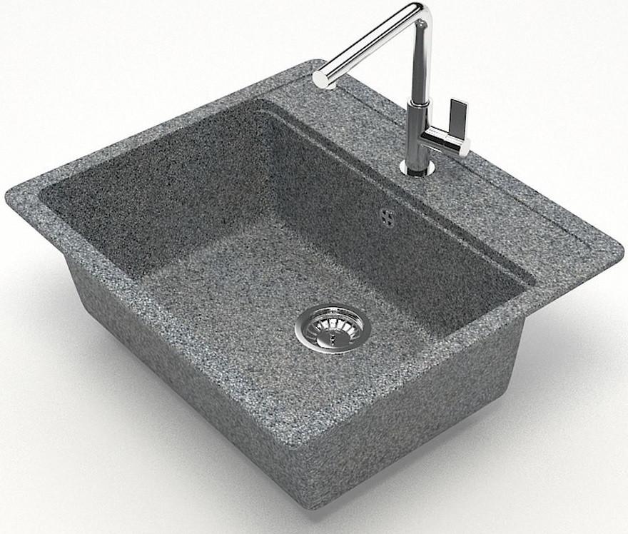 Фото - Кухонная мойка Zett Lab Модель 9 темно-серый матовый T009Q008 кухонная мойка zett lab модель 9 темно серый матовый t009q008