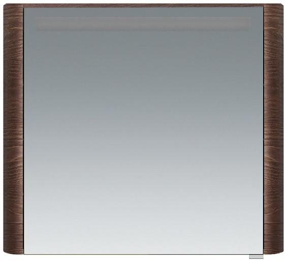 Зеркальный шкаф 80х70 см табачный дуб L Am.Pm Sensation M30MCL0801TF