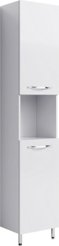 цена на Пенал универсальный белый глянец с бельевой корзиной Aqwella Allegro Agr.05.04