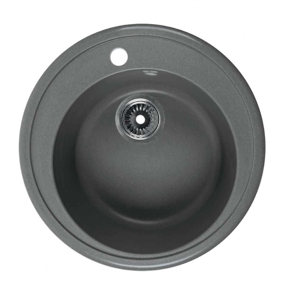 Кухонная мойка серый Rossinka RS51R-Gray-Quartz кухонная мойка бежевый rossinka rs51r beige granite