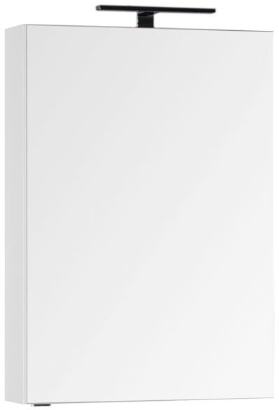 Зеркальный шкаф 59,6х85 см белый Aquanet Эвора 00184304