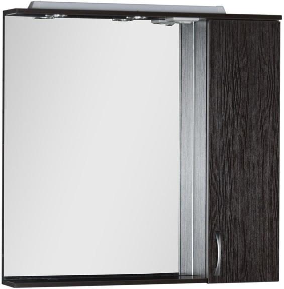 Зеркальный шкаф 90х87 см с подсветкой венге Aquanet Донна 00169179 зеркало шкаф aquanet донна 100 венге 169185