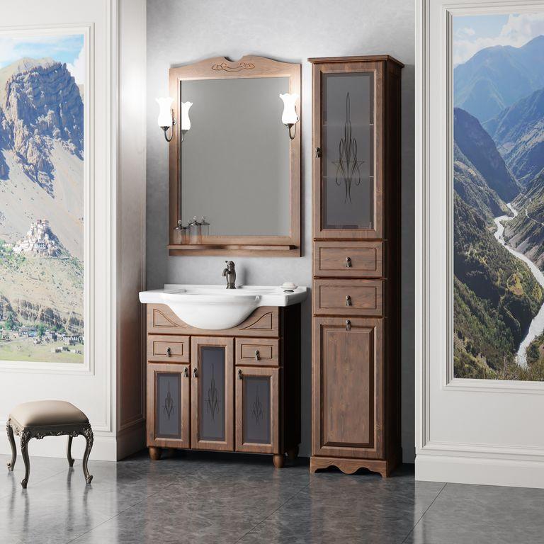 Фото - Комплект мебели орех антикварный 77 см Opadiris Тибет TIBET70KOMP46ST комплект мебели орех антикварный 56 см opadiris клио karla75komp46