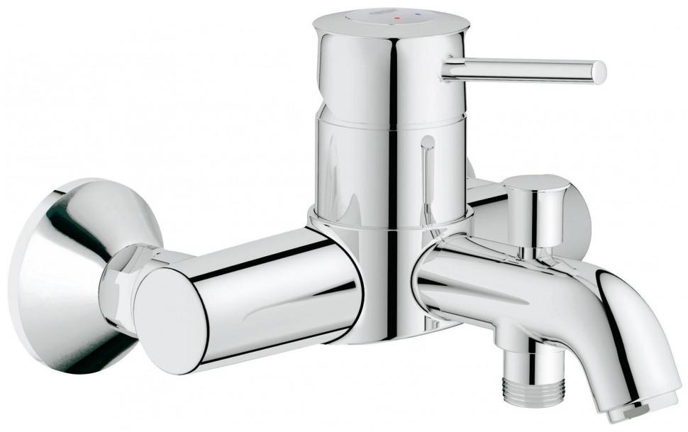 Смеситель для ванны Grohe BauClassic 32865000 смеситель для ванны с подключением душа grohe bauclassic 32865000 однорычажный